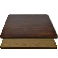 "Advantage 36""x36"" Restaurant Table Top - Oak / Walnut Reversible [CT3636-OWBR]"