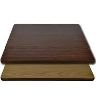 "Advantage 36""x36"" Restaurant Table Top - Oak / Walnut Reversible [CT3636-OWBR]"
