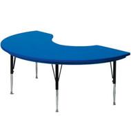 Correll 6 ft. Kidney Shape Activity Table - Blow-molded Plastic [AR4872-KID]