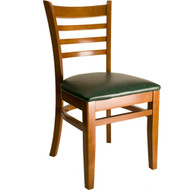 BFM Seating Burlington Cherry Wood Ladder Back Chair with Vinyl Seat [WC101CH-X-BFMS]