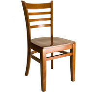 BFM Seating Burlington Cherry Wood Ladder Back Restaurant Chair [WC101CHCHW]