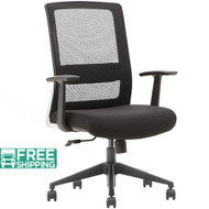 Black Mesh Office Chairs X1-01BE-MF | Office Furniture | Office Chairs For Sale