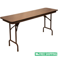 5-pack Advantage 6 ft. High Pressure Laminate Folding Banquet Table [MEW-1872-WB-05]