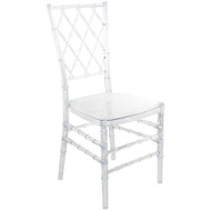 Advantage Clear Diamond Resin Chiavari Chair [RSCHI-CLR-DMD]