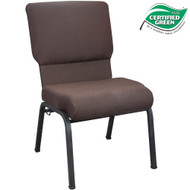 Advantage 20.5 in. Mahogany Molded Foam Church Chair [PCCF-119]