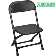 Advantage Kids Black Plastic Folding Chair [PPFCKID-Black]