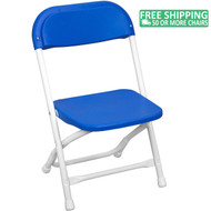 Advantage Kids Blue Plastic Folding Chair [PPFCKID-Blue]