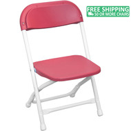 Advantage Kids Red Plastic Folding Chair [PPFCKID-Red]