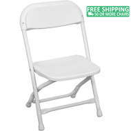 Advantage Kids White Plastic Folding Chair [PPFCKID-White]