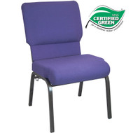 Advantage Eggplant Church Chair 20.5 in. Wide [PCHT-115]