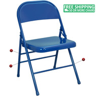 Advantage Blue Metal Folding Chair [EDPI903M-BLUE]