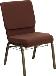 "Advantage Basic 18.5"" Church Chair With Basket"