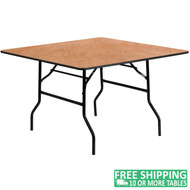 Advantage 48 in. Square Wood Folding Banquet Table [YT-WFFT48-SQ-GG]