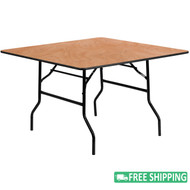 5-pack Advantage 48 in. Square Wood Folding Banquet Table [5-YT-WFFT48-SQ-GG]