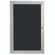 "Aarco Products 1 Door Enclosed Directory with Black Felt Letter Board and Aluminum Frame - 24""Hx18""W [ADC2418]"