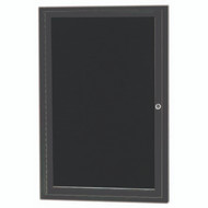 "Aarco Products 1 Door Enclosed Directory with Black Felt Letter Board and Bronze Anodized Aluminum Frame - 24""Hx18""W [ADC2418BA]"