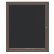 "Aarco Products 1 Door Enclosed Directory with Black Felt Letter Board and Bronze Anodized Aluminum Frame - 36""Hx30""W [ADC3630BA]"