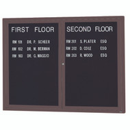 "Aarco Products 2 Door Enclosed Directory with Black Felt Letter Board and Bronze Anodized Aluminum Frame - 36""Hx48""W [ADC3648BA]"