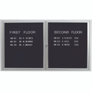 "Aarco Products 2 Door Enclosed Directory with Black Felt Letter Board and Aluminum Frame - 36""Hx60""W [ADC3660]"