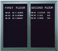 "Aarco Products 2 Door Enclosed Directory with Black Felt Letter Board and Aluminum Frame - 48""Hx60""W [ADC4860]"