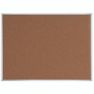 "Aarco Products Natural Pebble Grain Cork Bulletin Board with Aluminum Frame 36""Hx48""W [DB3648]"