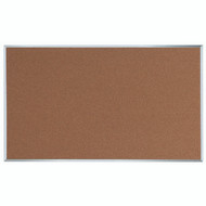 "Aarco Products Natural Pebble Grain Cork Bulletin Board with Aluminum Frame 36""Hx60""W [DB3660]"