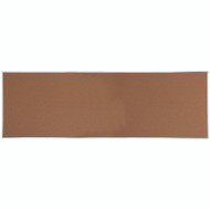 "Aarco Products Natural Pebble Grain Cork Bulletin Board with Aluminum Frame 48""Hx144""W [DB48144]"