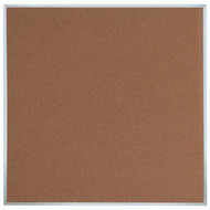 "Aarco Products Natural Pebble Grain Cork Bulletin Board with Aluminum Frame 48""Hx48""W [DB4848]"