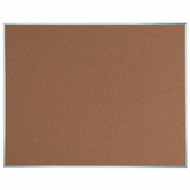 "Aarco Products Natural Pebble Grain Cork Bulletin Board with Aluminum Frame 48""Hx60""W [DB4860]"