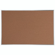 "Aarco Products Natural Pebble Grain Cork Bulletin Board with Aluminum Frame 48""Hx72""W [DB4872]"