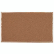 "Aarco Products Natural Pebble Grain Cork Bulletin Board with a Red Oak Frame - 36""Hx60""W [OB3660]"