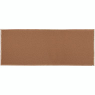 "Aarco Products Natural Pebble Grain Cork Bulletin Board with a Red Oak Frame - 48""Hx120""W [OB48120]"