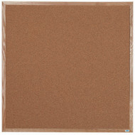 "Aarco Products Natural Pebble Grain Cork Bulletin Board with a Red Oak Frame - 48""Hx48""W [OB4848]"