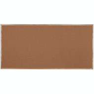 "Aarco Products Natural Pebble Grain Cork Bulletin Board with a Red Oak Frame - 48""Hx96""W [OB4896]"