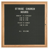 "Aarco Products 1 Door Enclosed Black Felt Changeable Letter Board with Red Oak Frame - 36""Hx36""W [ODC3636]"