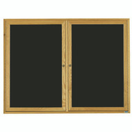 "Aarco Products 2 Door Enclosed Black Felt Changeable Letter Board with Red Oak Frame - 36""Hx48""W [ODC3648]"