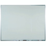 "Aarco Products White Melamine Marker Board with Aluminum Frame Size 48""Hx60""W [WAC4860]"