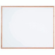"Aarco Products White Melamine Marker Board with Red Oak Frame - 48""Hx60""W [WOC4860]"