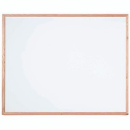 "Aarco Products White Porcelain Enamel on Steel Marker Board with Red Oak Frame - 48""Hx60""W [WOS4860]"