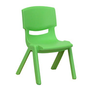 Advantage Green Plastic Stackable School Chair with 10.5'' Seat Height [YU-YCX-003-GREEN-GG]