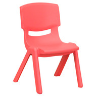 Advantage Red Plastic Stackable School Chair with 10.5'' Seat Height [YU-YCX-003-RED-GG]