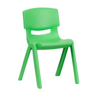 Advantage Green Plastic Stackable School Chair with 13.25'' Seat Height [YU-YCX-004-GREEN-GG]