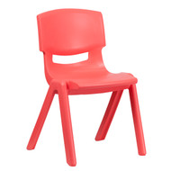 Advantage Red Plastic Stackable School Chair with 15.5'' Seat Height [YU-YCX-005-RED-GG]