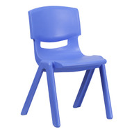 Advantage Blue Plastic Stackable School Chair with 15.5'' Seat Height [YU-YCX-005-BLUE-GG]