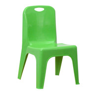 Advantage Green Plastic Stackable School Chair with Carrying Handle and 11'' Seat Height [YU-YCX-011-GREEN-GG]