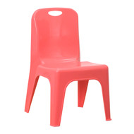 Advantage Red Plastic Stackable School Chair with Carrying Handle and 11'' Seat Height [YU-YCX-011-RED-GG]