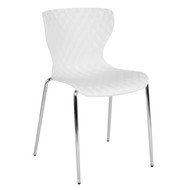 Advantage Lowell Contemporary Design White Plastic Stack Chair [LF-7-07C-WH-GG]