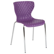 Advantage Lowell Contemporary Design Purple Plastic Stack Chair [LF-7-07C-PUR-GG]