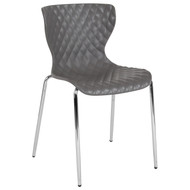 Advantage Lowell Contemporary Design Gray Plastic Stack Chair [LF-7-07C-GRY-GG]