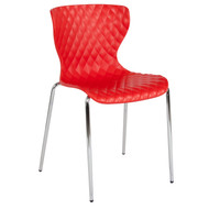 Advantage Lowell Contemporary Design Red Plastic Stack Chair [LF-7-07C-RED-GG]